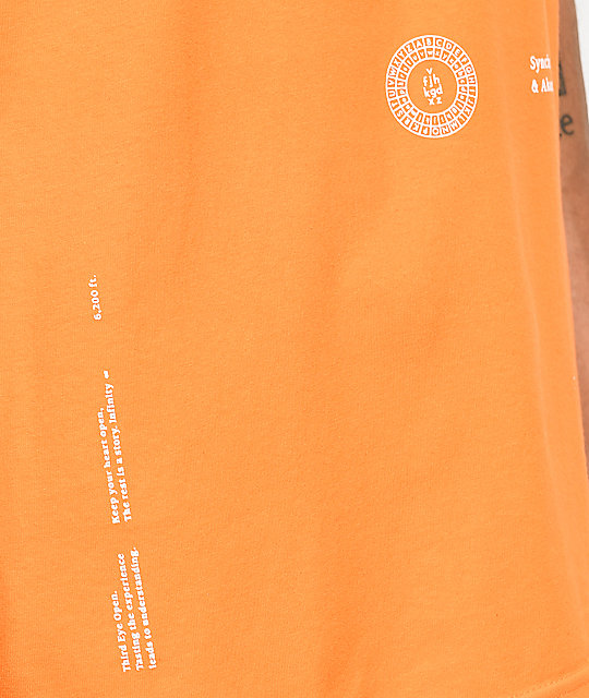 Akomplice x Synchrodogs Guise Orange T-Shirt