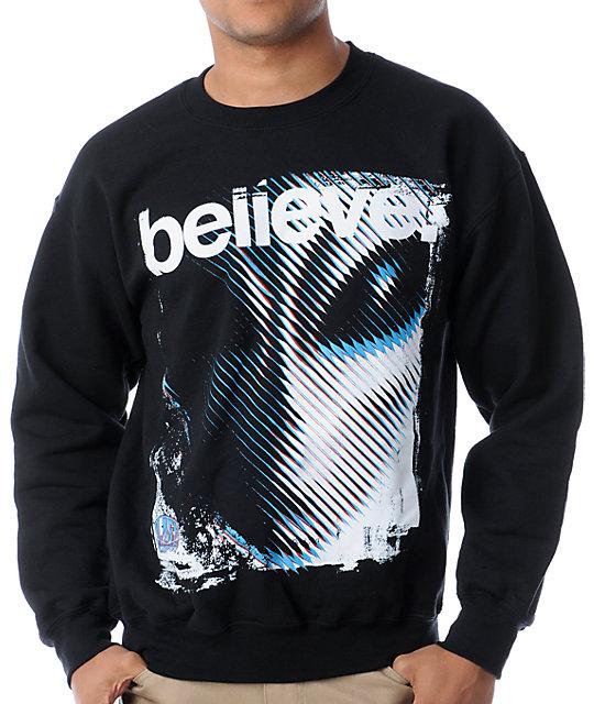 5a1f8aa82be6 Alien Workshop Believe Black Crew Neck Sweatshirt