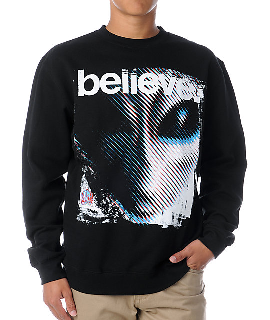 Alien Workshop Believe II Black Crew Neck Sweatshirt