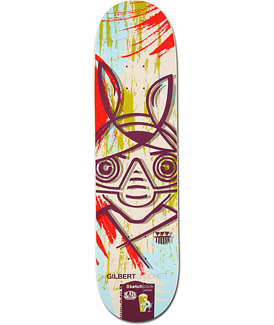 "Alien Workshop Crockett Sketchbook 8.0""  Skateboard Deck"