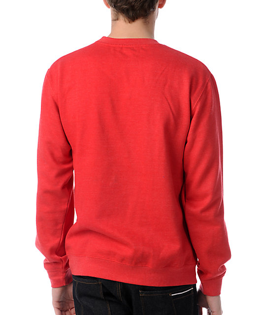 Alien Workshop Dot Moire Red Crew Neck Sweatshirt