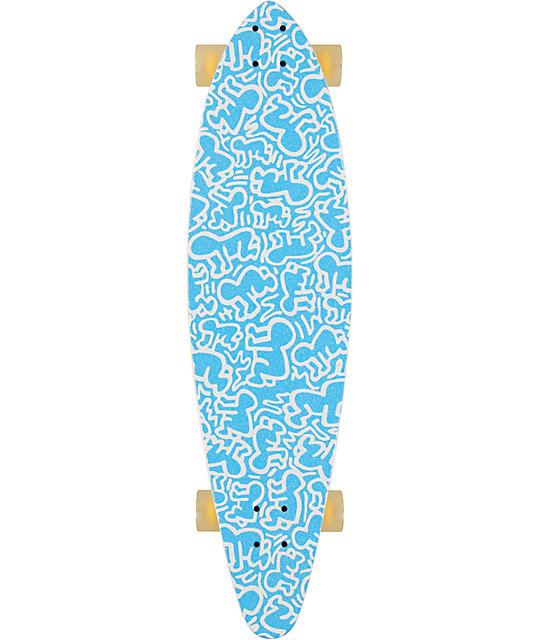 "Alien Workshop Haring Link Up 38""  Pin Tail Longboard Complete"