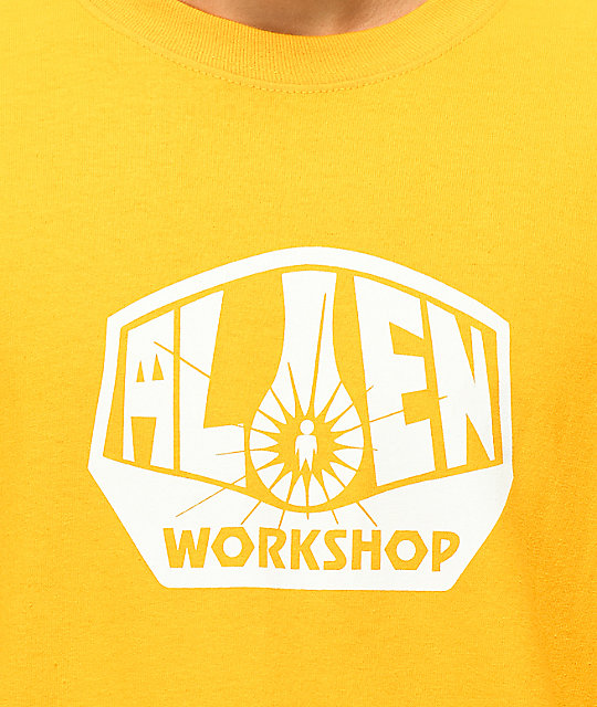 Alien Workshop Logo Gold Long Sleeve T-Shirt