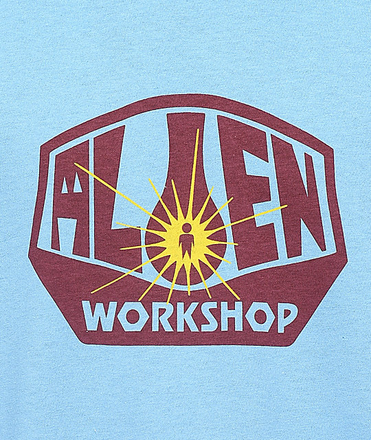Alien Workshop Logo camiseta en azul claro