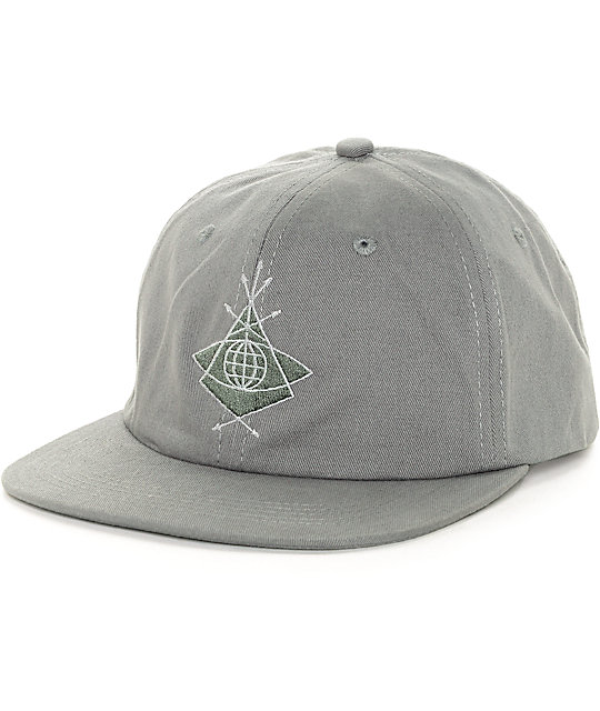 Alien Workshop Mystery School Grey Strapback Hat  4910890e265