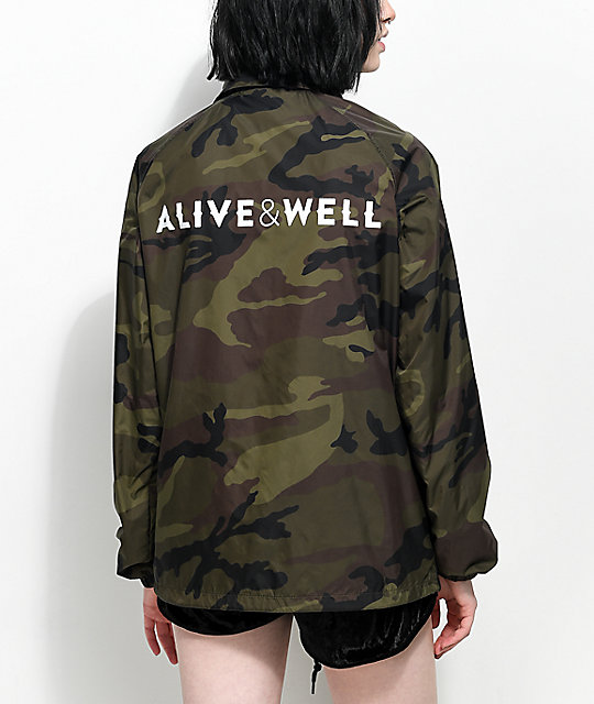 163d4b6c4891 Alive   Well Camo Coaches Jacket