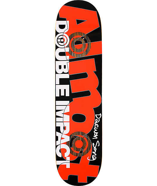 "Almost Daewon Line Work 7.9""  Double Impact Skateboard Deck"