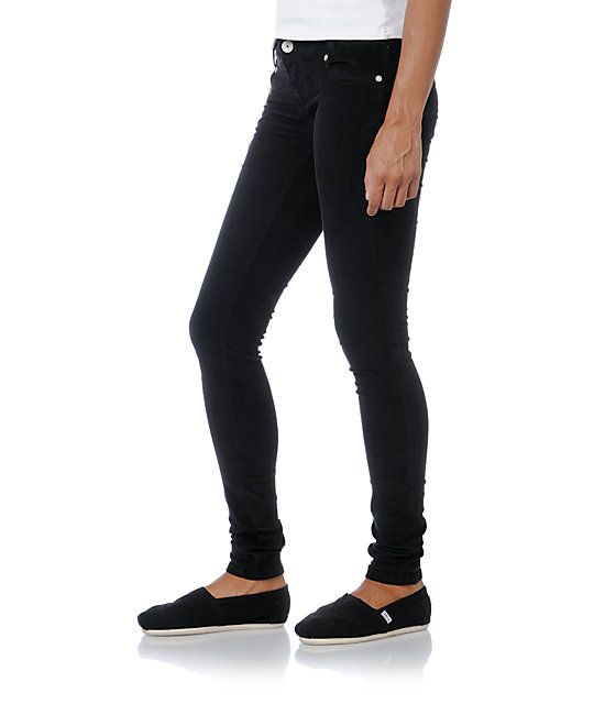 Almost Famous Black Skinny Corduroy Pants
