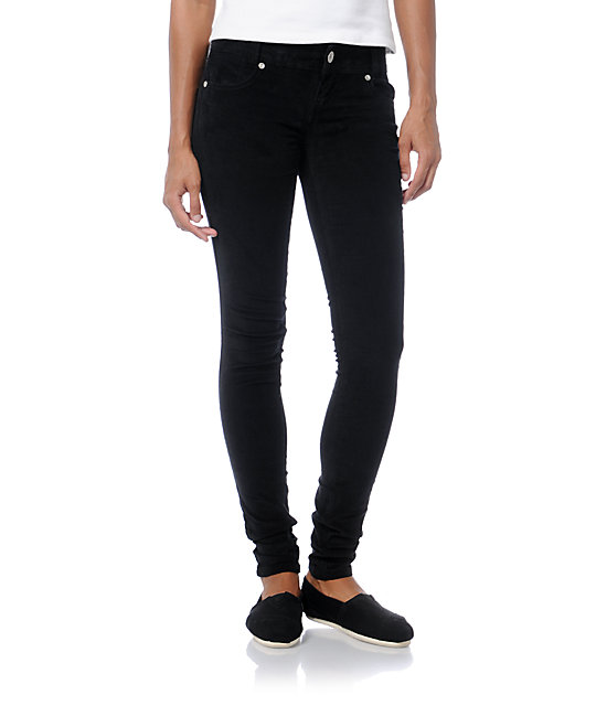 latest style finest fabrics hot sales Almost Famous Black Skinny Corduroy Pants