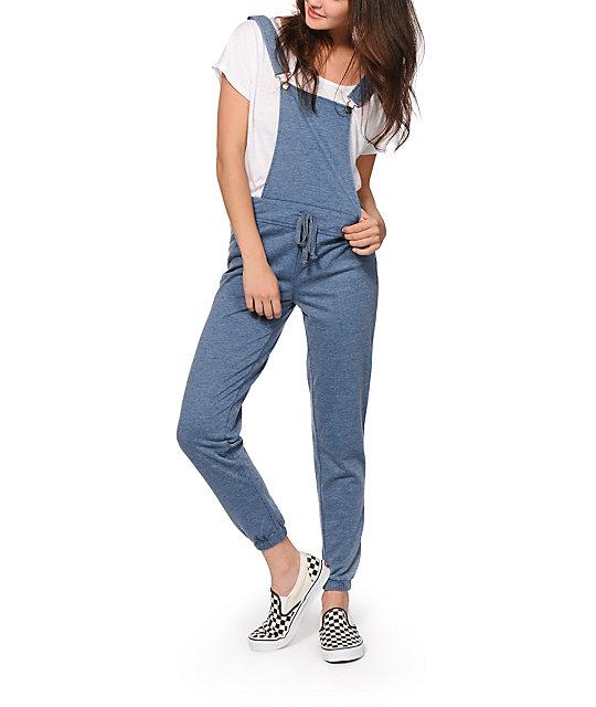 cb0b6ba9bfa Almost Famous Blue Overall Jogger Pants