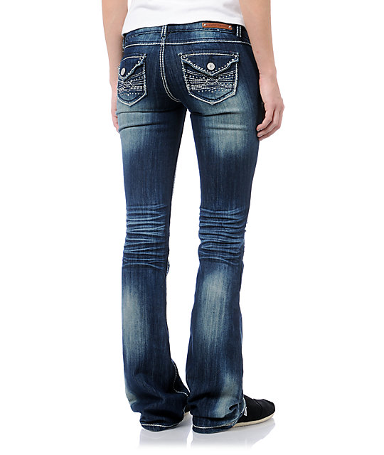 Almost Famous Harper Medium Blue Bootcut Jeans