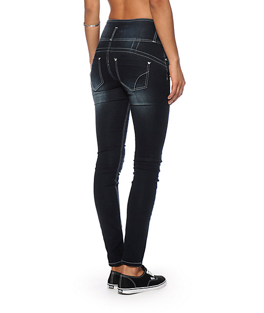 Almost Famous Jessie Dark Wash High Waisted Jeans