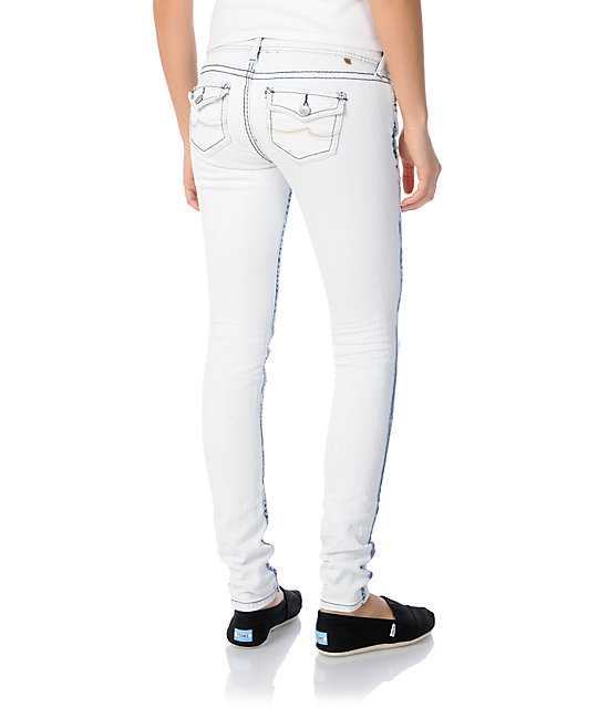 Almost Famous Jody Distressed Acid Wash Super Skinny Jeans