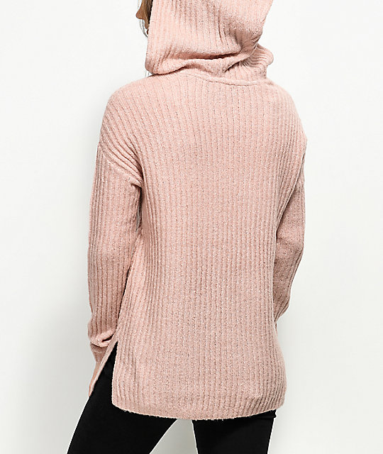 Almost Famous Kyia Pink Hooded Sweater