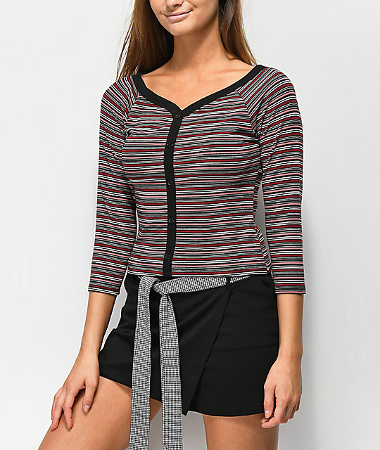 Almost Famous Laurie Stripe Long Sleeve T-Shirt