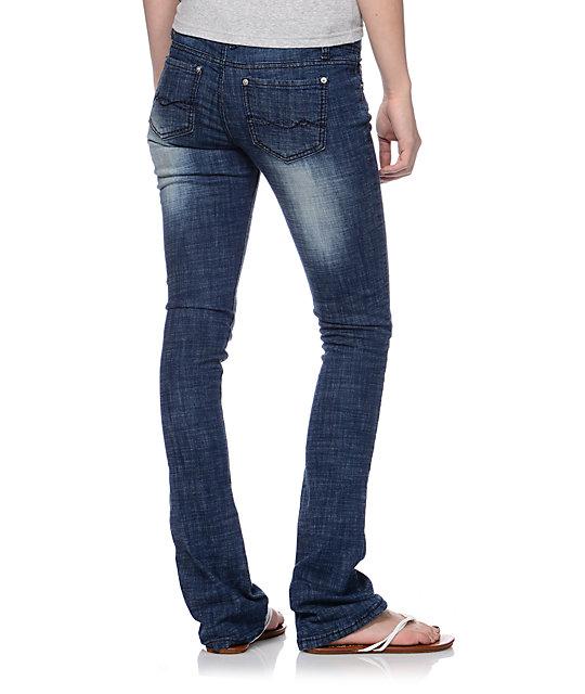 da5b893eb30 Almost Famous Loni Dark Blue Bootcut Jeans …