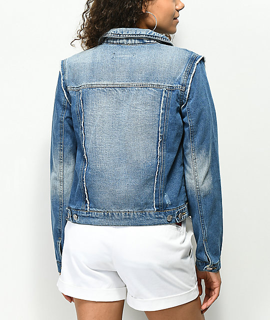 Almost Famous Pieced Denim Jacket