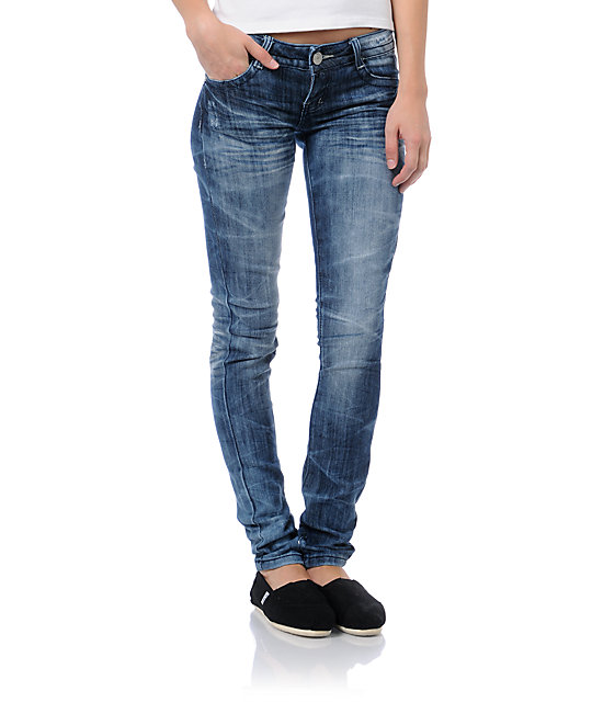 Almost Famous Piper Acid Wash Skinny Jeans