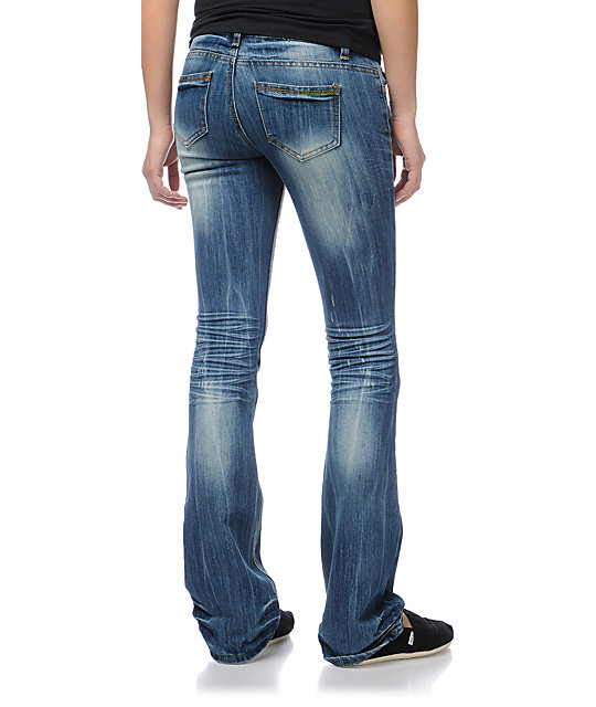 Almost Famous Shannon Medium Blue Bootcut Jeans