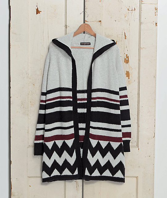 Almost Famous Tabrina Aztec Hooded Cardigan
