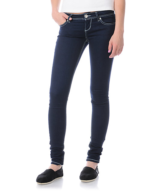 Almost Famous Willow Dark Blue Skinny Jeans