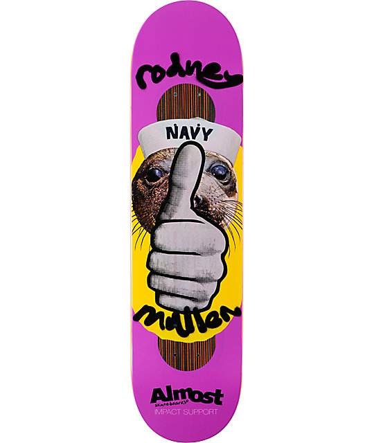 "Almost Mullen Thumbs Up 8.0""  Impact Support Skateboard Deck"