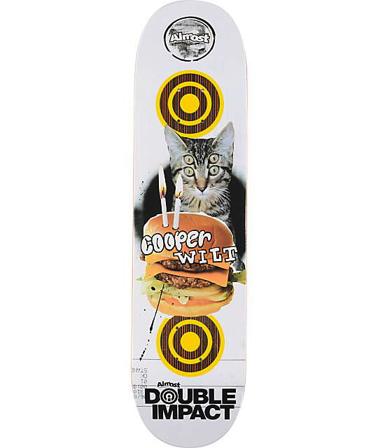 "Almost Wilt Double Double 7.9""  Double Impact Skateboard Deck"