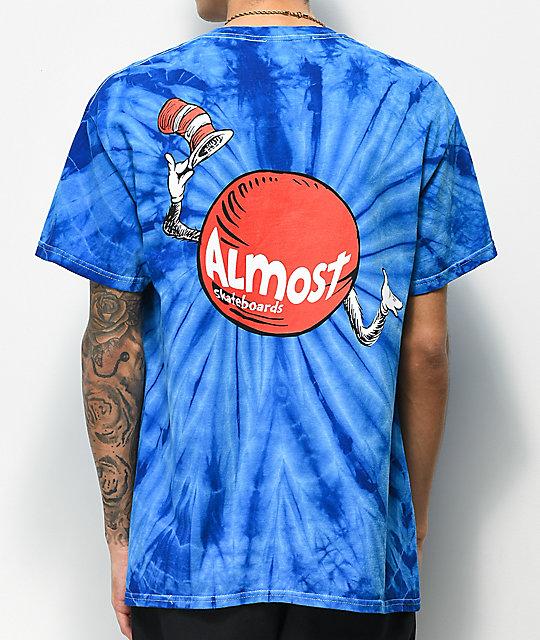 be654951421bf Almost x Dr. Seuss Hat Dot Blue Tie Dye T-Shirt
