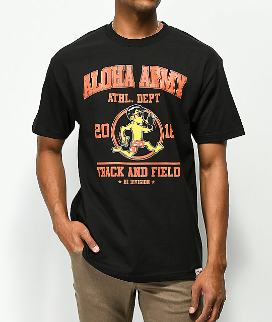 Aloha Army Track & Field Black T-Shirt