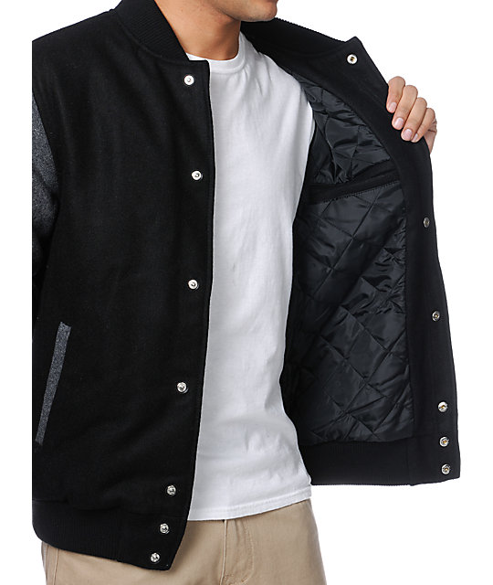 Altamont Series Black Heavy Varsity Jacket