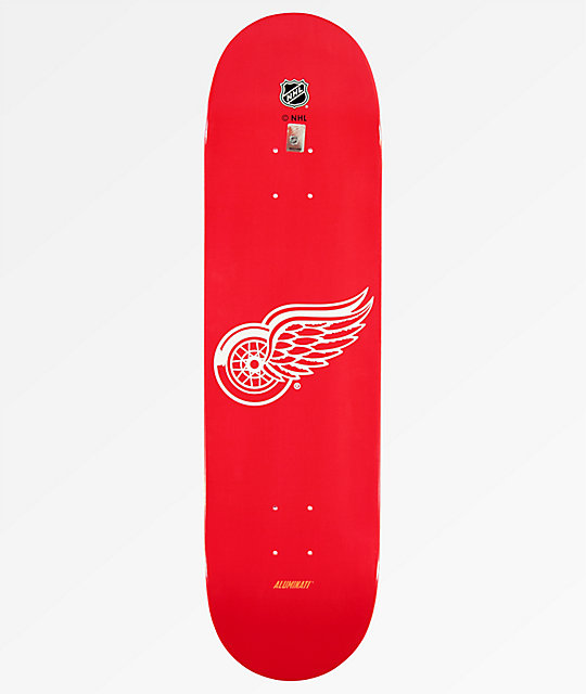 "Aluminati Detroit Red Wings 8.25"" Skateboard Deck"