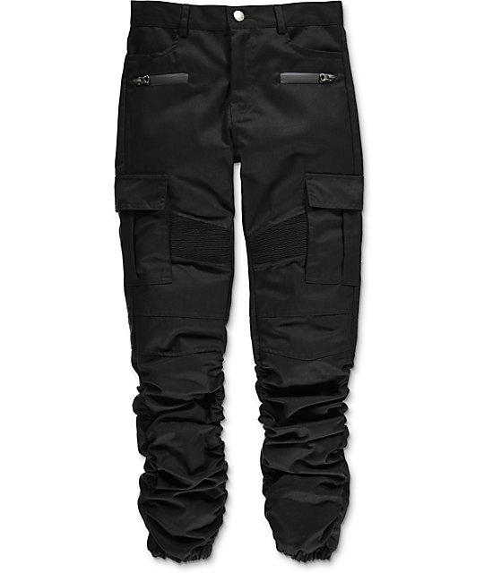American Stitch Boys Black Cargo Twill Scrunched Jogger Pants Zumiez