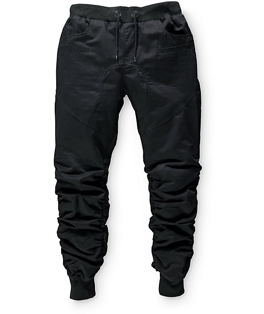 American Stitch Boys Scrunch Black Jogger Pants