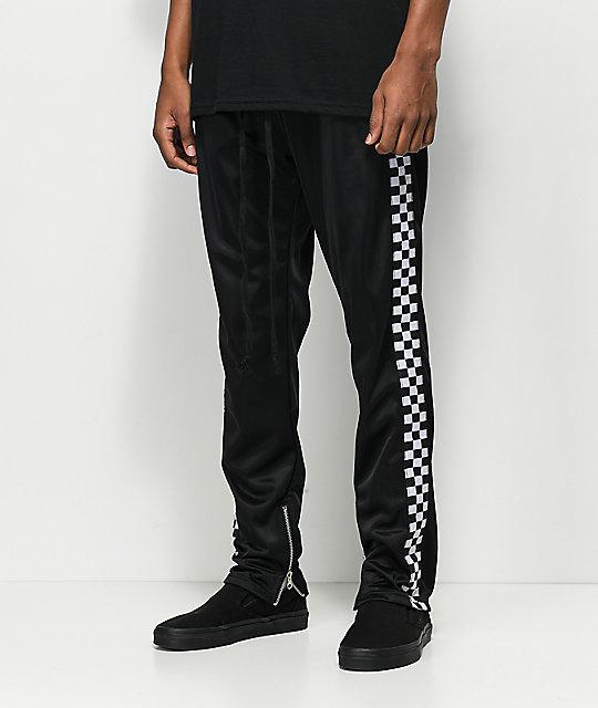 d4dd1785f4e08 American Stitch pantalones de chándal negros de cuadros ...