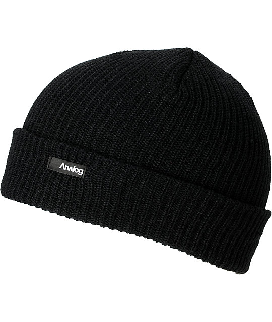 Analog Burglar Knit Black Beanie