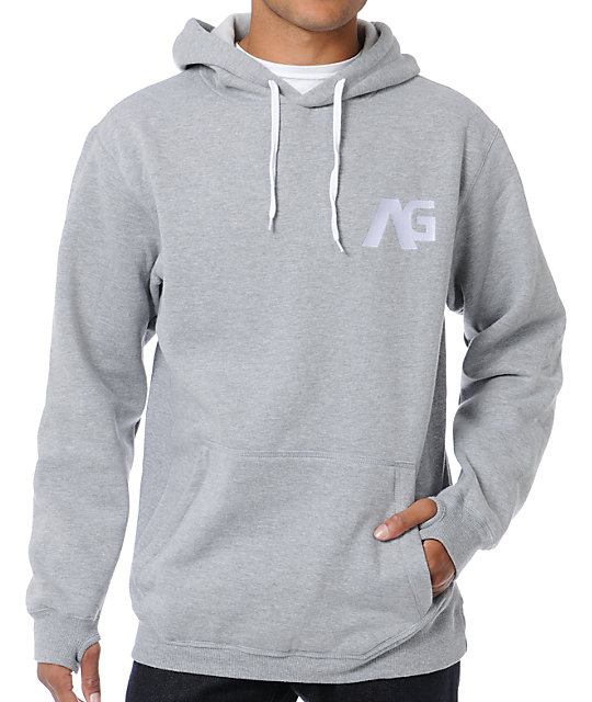 Analog Crux ATF Heather Grey Pullover Hoodie