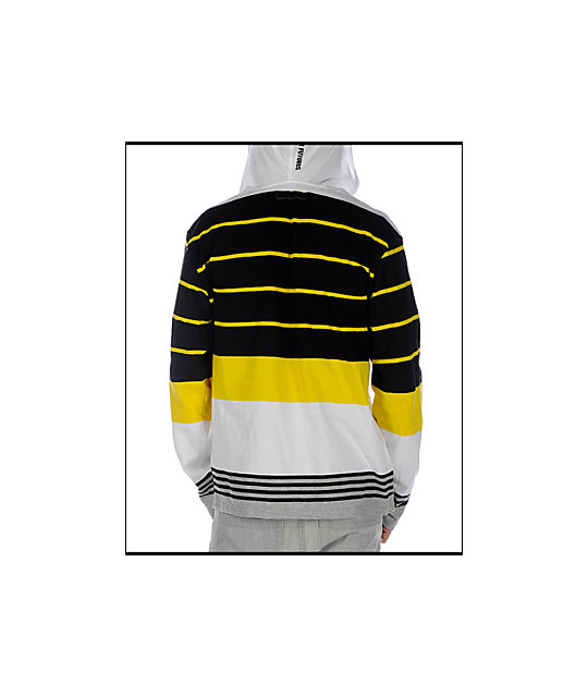 Analog Engineer White Hooded Knit