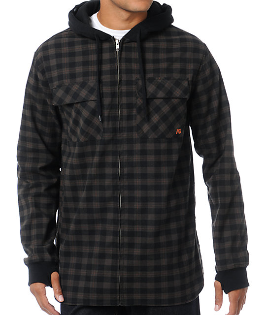 Analog Integrate ATF Plaid Flannel Hoodie