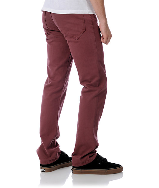 Analog Remer Oxblood Regular Fit Jeans