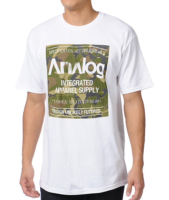 Analog Robbed Camo Block White T-Shirt