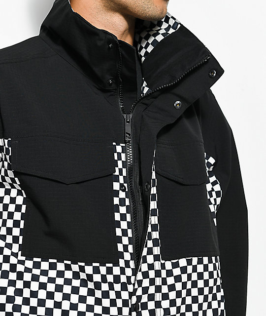 Analog Tollgate True Black Checker 10K Snowboard Jacket
