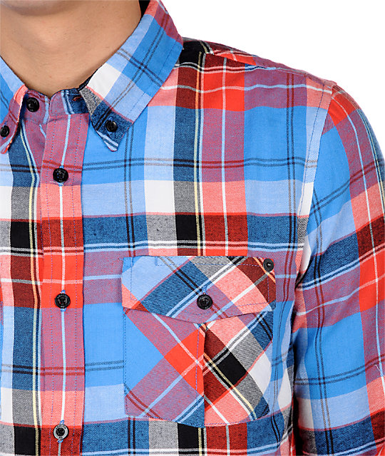 Analog Uptown Blue Flannel Shirt
