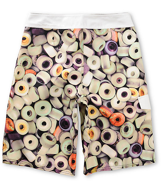 Analog Urethane White Board Shorts