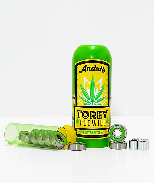 Andale Torey Hot Sauce Pro Rated Skateboard Bearings & Wax