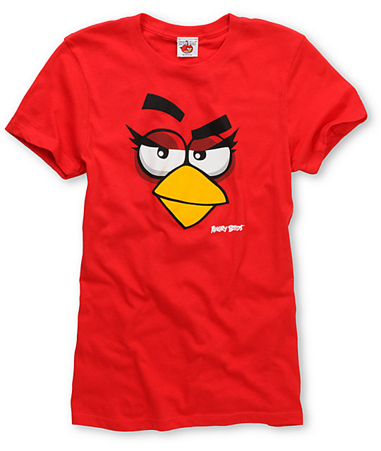 Angry Birds Girly Face Red T-Shirt