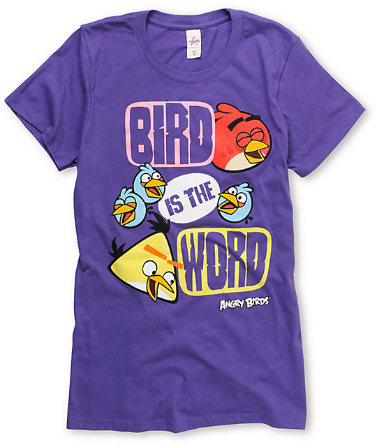 Angry Birds Talking Bout Purple T-Shirt