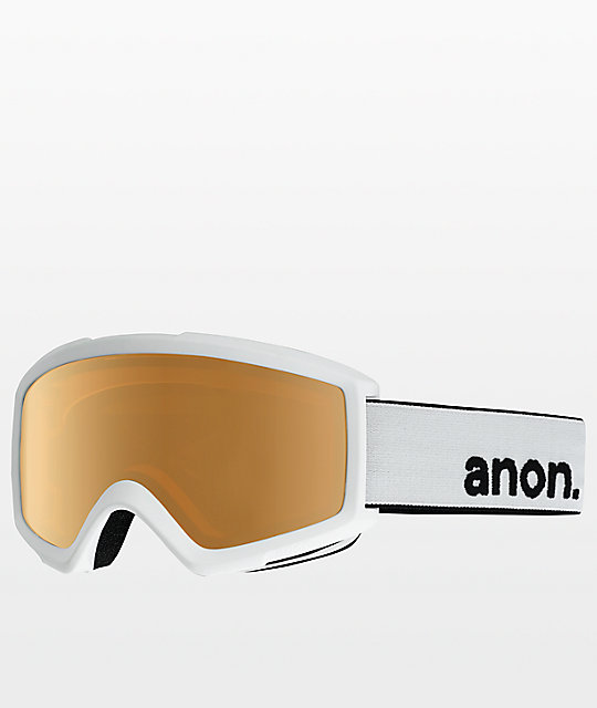 Anon Helix 2.0 White Amber Snowboard Goggles