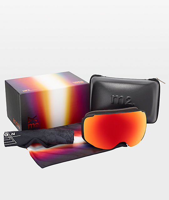 Anon M2 MFI Red Planet & Sonar Red Snowboard Goggles