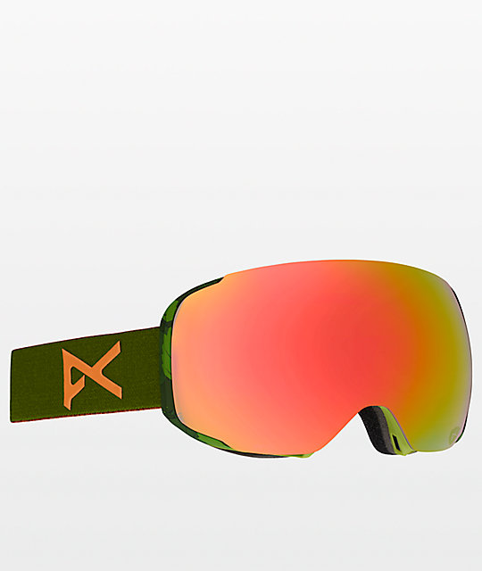 Anon M2 Mad Trees Red Solex gafas de snowboard