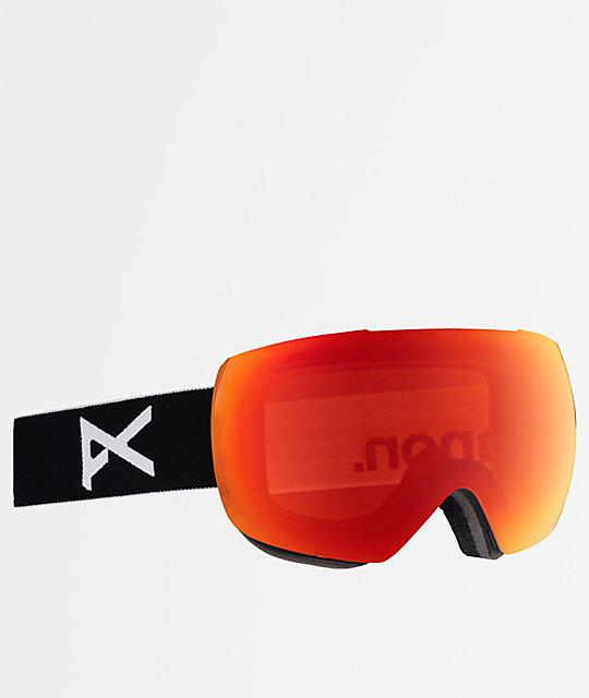 10563a505bec Anon Mig Black Sonar Infrared Snowboard Goggles